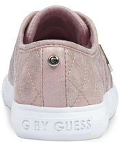 G by Guess Women's Backer2 Lace Up Leather Quilted Pattern Sneakers Shoes Pink image 3