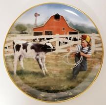 Danbury Mint Tug Of War Plate Donald Zolan Collection Little Farmhands - $44.99