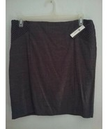 AB Studio Brown Skirt Women's Size 14 Pencil Lined Brown Decorative Pleats - $22.00