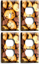 Milk Chocolate Chip Cookie 1 Light Switch 3 Outlet Wall Plate Room Kitchen Decor - $31.58