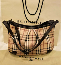 Burberry Shoulder Bag/Handbag Classic Burberry Haymarket Check Made in I... - $769.95