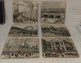 Vintage lot of 6 Pimpernel placemats Australian architectural buildings - $29.69
