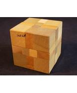 TINY JAPANESE WOODEN CUBE BLOCK INTERLOCKING PUZZLE Jenga Style blocks - $9.89