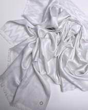 Calvin Klein Womens Scarf White Rayon Blend Nwt - $42.87