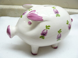 Animal Flower Pig Bank  #169 - $7.99