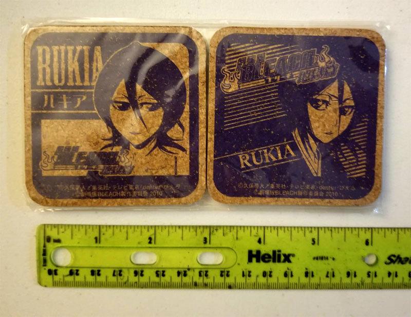 "Bleach ""Rukia"" Set of (2) Cork Coasters * Anime * Pierrot"