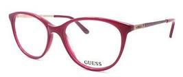 GUESS GU2565 075 Women's Eyeglasses Frames 52-17-135 Shiny Fuchsia + CASE - $59.20