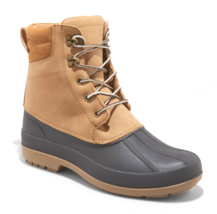 Goodfellow & Co Mens Atley Tan Water Resistant Leather Duck Winter Snow Boots