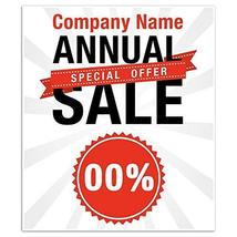 Business Window Retail Custom Clearance Sale Sign - $20.29