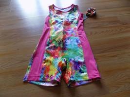 Size XS 4-5 Danskin Now Dance Gymnastics Unitard Leotard Biketard Multi ... - $17.00