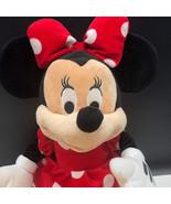 Disney Minnie Mouse Plush Polka Dot Dress Red Bow Disney 22 inches - $48.38