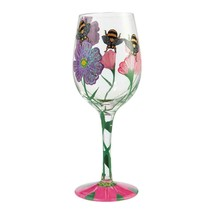 """My Drinking Garden  """"Designs by Lolita"""" Wine Glass 15 o.z. 9"""" High  Gift Boxed image 2"""