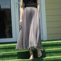 Black Polka Dot Tulle Skirt Black Pleated Tulle Midi Skirt image 4