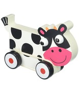 Toddler Toy, Wooden Wonders Spotted Cow Cute Fun Push Pull Toy - $19.99