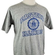 Vintage Eastern Illinois University T-Shirt Large Gray Jansport Single S... - $19.99