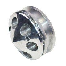 GM SBC SINGLE-GROOVE ALUMINUM ALTERNATOR PULLEY WITH NOSE CONE COVER 283 350 400 image 2