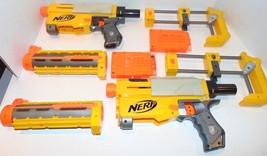 Set of 2 2007 Hasbro NERF Recon CS-6 Dart Gun Blasters, Clips, Stocks, &... - $16.54