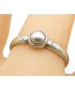 CAROLEE 925 Silver - Vintage Swirl Etched Mini Dome Detail Band Ring Sz ... - $24.35