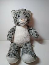 "Build A Bear Snow Leopard Gray White 16"" Plush Soft Toy Stuffed Animal 2018 - $15.74"