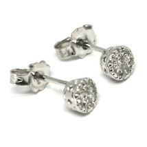 18K WHITE GOLD EARRINGS, CENTRAL AND FRAME DIAMONDS, FLOWER, 0.21 CARATS image 1