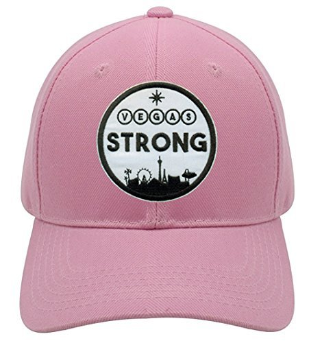 Vegas Strong Hat - Pink Adjustable Womens - Las Vegas Pride City Skyline