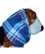 Blue Red White Plaid Fleece Dog Snood by Howlin Hounds Basset Hound Spri... - $12.50