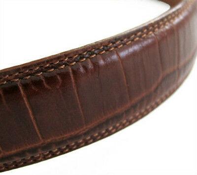Ralph Lauren Golf Brown Croco Leather Belt size M