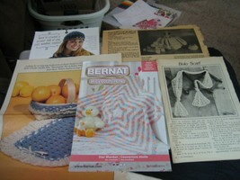 Mixed Lot of Vintage Crochet Patterns - $7.91
