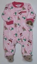 Carter's Sleep And Play For Girls 3 Months First Christmas Sleeper Santa - $10.00