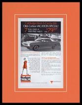 1970 Budget Rent a Car Oldsmobile Framed 11x14 ORIGINAL Vintage Advertis... - $39.59
