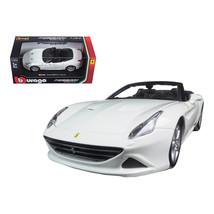 Ferrari California T White Open Top 1/24 Diecast Model Car by Bburago 26... - $33.50