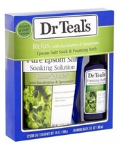 Dr Teal's Relax with Eucalyptus & Spearmint 2 Piece Bath Travel Gift Set - $14.00