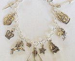 Medieval Theme Charm Bracelet Handcrafted Jewelry + Free Organza Roses Gift Bag