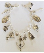 Medieval Theme Charm Bracelet Handcrafted Jewelry + Free Organza Roses Gift Bag  - £16.74 GBP