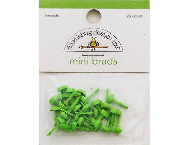 Doodlebug Design Limeade Mini Green Brads #077