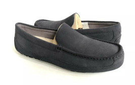Ugg Men Adler Navy Shearling Lined Moc Loafer Suede Shoe Us 10 / Eu 43 / Uk 9 - $70.13