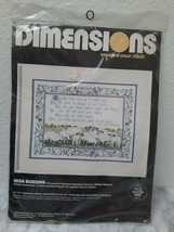 """1988 Dimensions 3647 Irish Blessing Counted Cross Stitch Kit 16"""" x 12"""" - $29.65"""