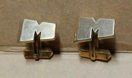 "7066----VTG Monogrammed ""M"" cuff links by Swank - $15.00"