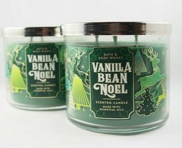 (2) Bath & Body Works Special Lid Vanilla Bean Noel 3-Wick Scented Candl... - $34.94