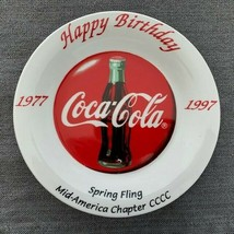 "Coca-Cola Mid Atlantic 20th Birthday 8"" Collector Plate by Gibson - $6.93"
