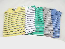 NEW Polo Ralph Lauren Striped Polo Shirt!  Green Stripe  Smooth Interlock Cotton - $39.99