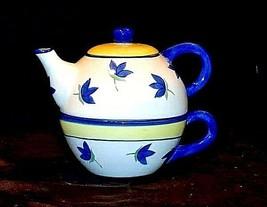 TeaPot with Soup Bowl and Lid AB 535-D  Vintage Ceramic