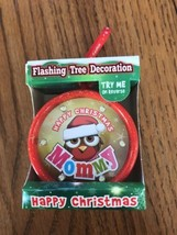New Happy Christmas Flashing Tree Deocration Flashing Ornament LED light... - $11.86