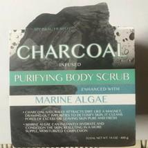 My Beauty Spot Charcoal Infused Purifying Body Scrub With Marine Algae1... - $18.31