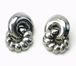 Vintage Signed Sterling Silver Thailand 925 PAJ Pierced Earrings 9.2 Grams - $44.55