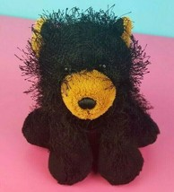 Ganz Webkinz Plush Black Bear HM004 Stuffed Animal No Code Shaggy #A41 - $3.95