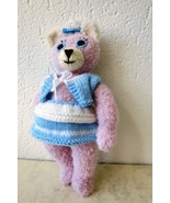 Handmade stuffed toy teddy bear knitted animal thumbtall