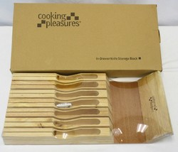 New Cooking Pleasures Solid Wood In Drawer Knife Storage Block Tray - 7 ... - $7.80