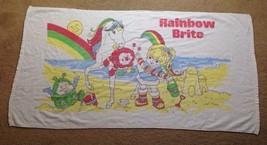 Rainbow Brite Beach Towel Pool Toy 1980s Starlite Cartoon 80s Vintage Di... - $29.69