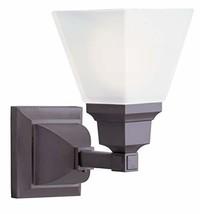 Livex Lighting 1031-07 Mission 1-Light Bath Light, Bronze - $154.63